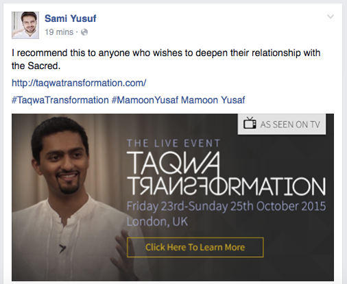 Sami Yusuf Endorsement