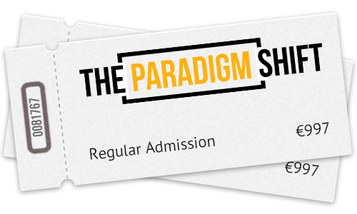 Two Tickets to The Paradigm Shift Live Event